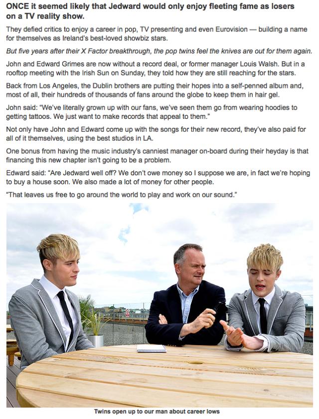 Irish Sun Interview 21:6:14 part 2