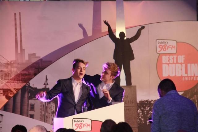 "John and Edward at 98FM's ""Best of Dublin"" Awards"