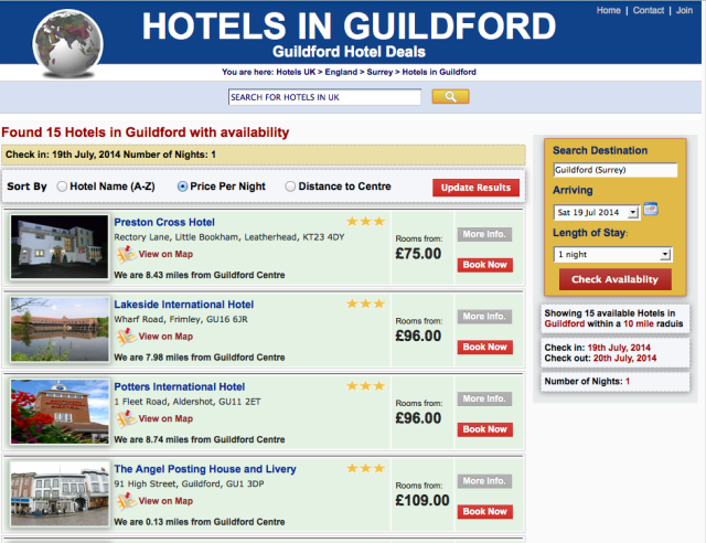 hotels in guildford