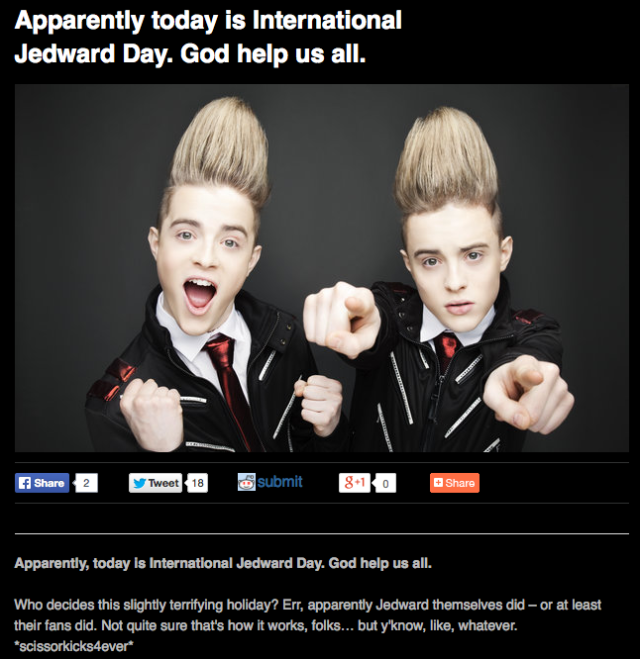 International Jedward Day 1