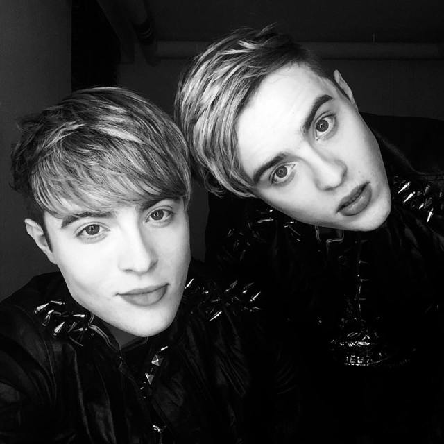 John and Edward Black and White