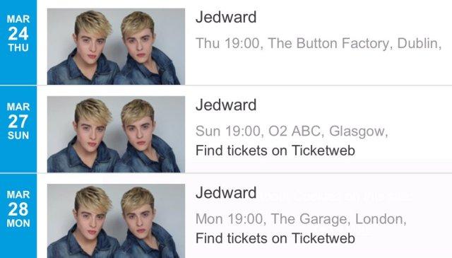 jedward dates