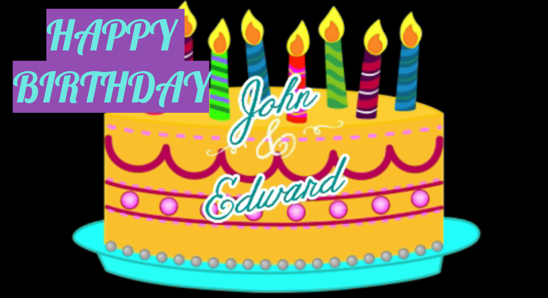 Astounding Happy Birthday John And Edward Jed World News Funny Birthday Cards Online Kookostrdamsfinfo