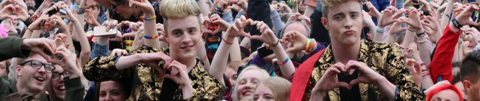 Jedward at Durham Pride - Photo credit DD Photography